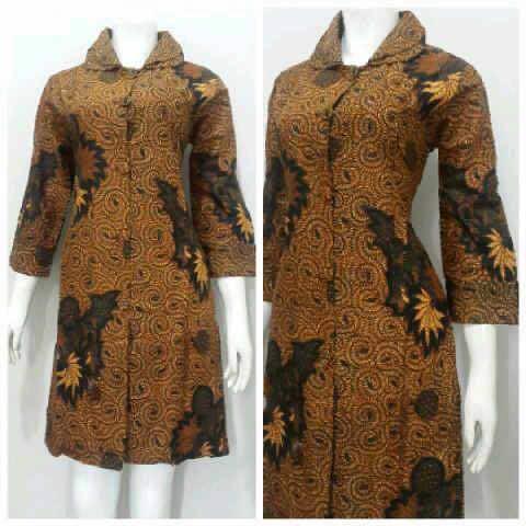 Model dress batik dengan motif yang serasi - Batik Dlidir