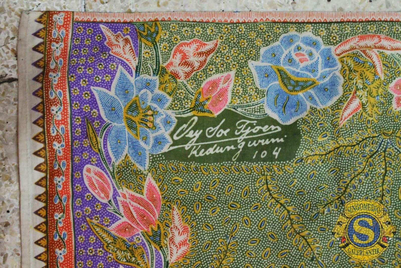 Batik tulis Oey Soe Tjoen