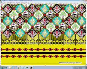 Tehnik pembuatan Seragam batik sekolah Manado menggunakan plangkan