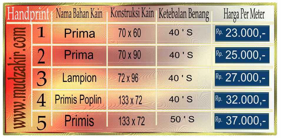 Kain batik Handprint untuk seragam kualitas handmade