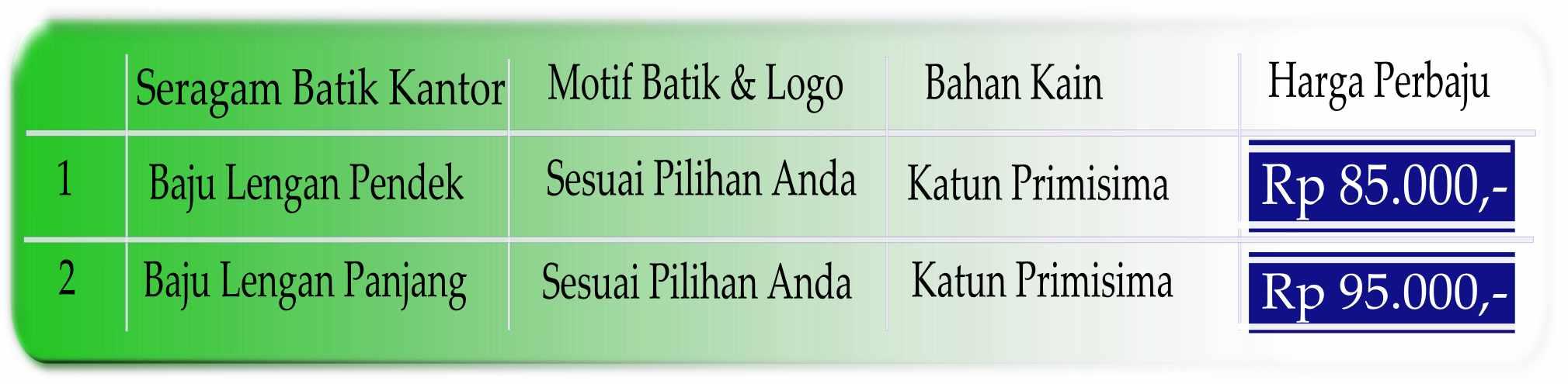 Seragam batik kantor Kalimantan Tengah modern siap pakai katun primisima