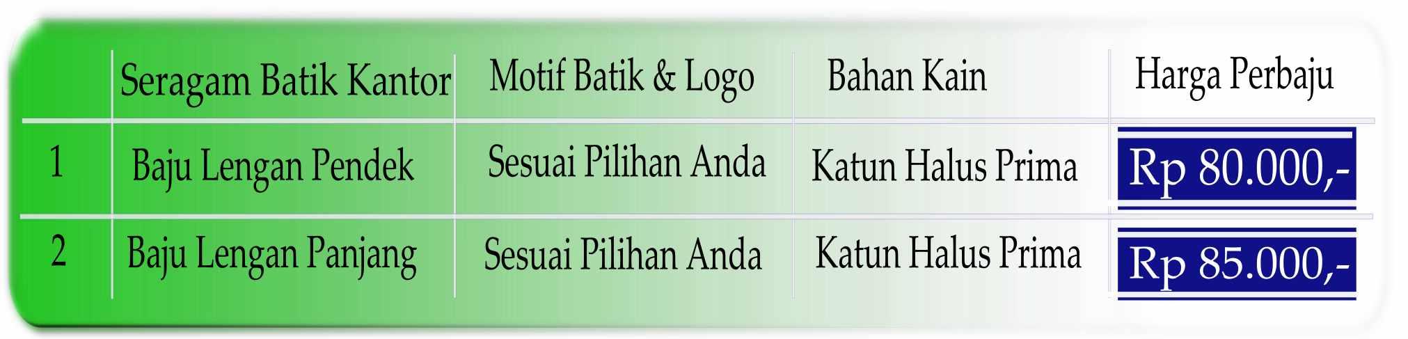Seragam batik kantoran Bandung