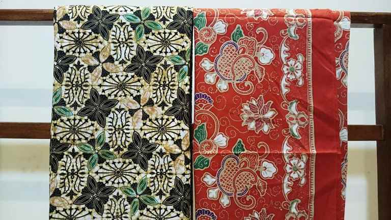 Batik Solo murah dengan tehnik cap di perusahaan handmade Batikdlidir