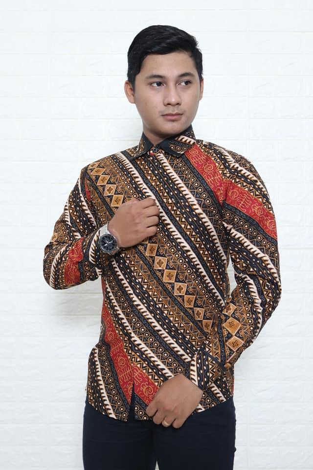Batik modern pria slimfit murah