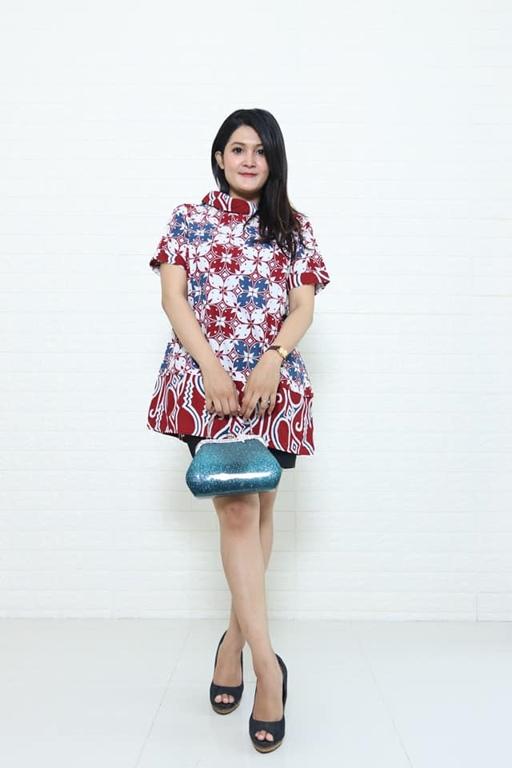 Batik modern wanita dengan warna yang soft dan harga murah bahan katun