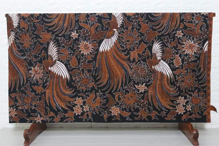 Jual kain batik tulis halus solo motif merak granit kualitas premium