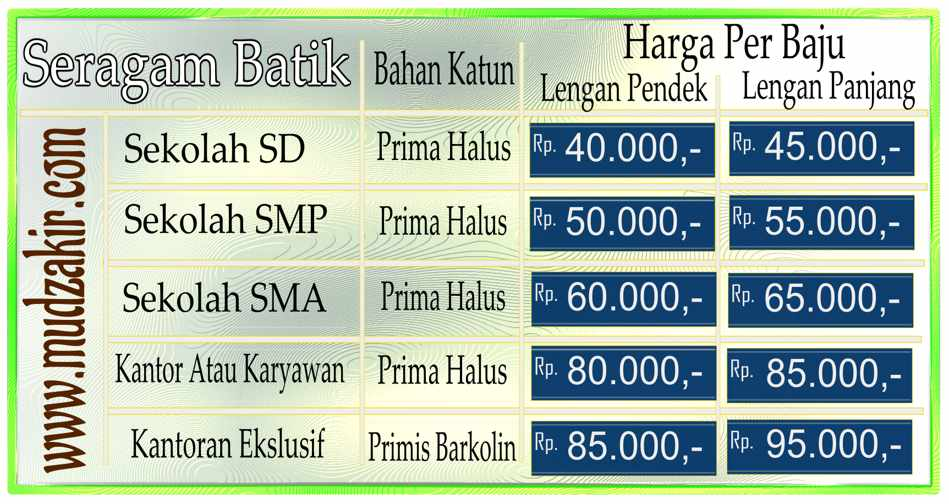 Seragam batik SD murah di Batikdlidir