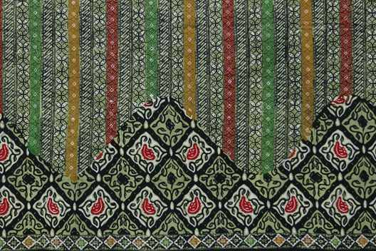 2.2 Kain batik cap kesik Atau Cap kombinasi Tulis asli