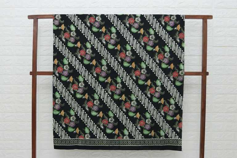Kain batik cap kesik Atau Cap kombinasi Tulis