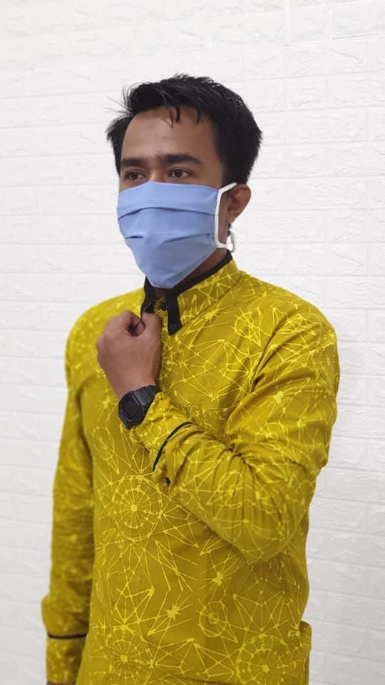 Masker kain hijab sesuai custom di Bengkulu, harga Rp2.500