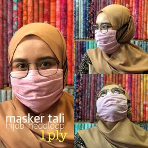 Masker kain hijab harga murah grosir