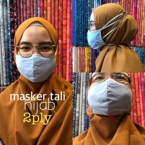 Masker kain hijab ready stok harga Rp 3.500,- per pcs 123