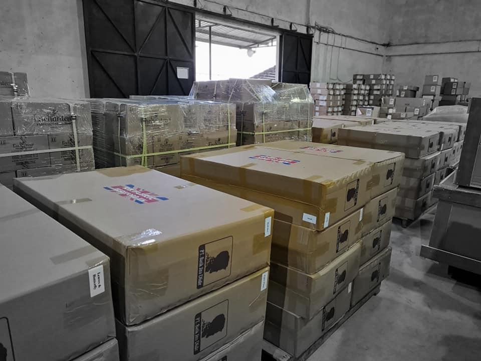 proses pengiriman batik cap smoke ke Eropa