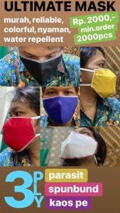 Masker parasut harga 2000