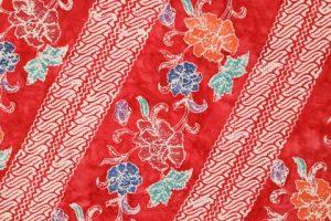 kain batik cap cuwiri warna merah