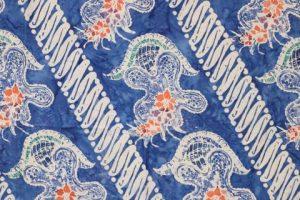 kain batik cap cuwiri warna biru