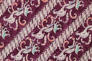 kain batik cap cuwiri warna ungu