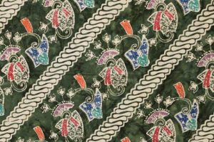 kain batik cap cuwiri warna army