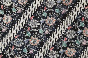 kain batik cap cuwiri warna navy