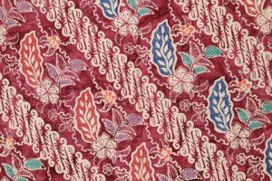 kain batik cap cuwiri warna maroon